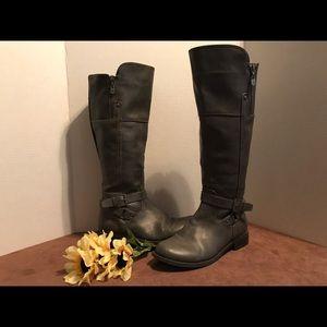 Women's guess dark gray knee-high boots
